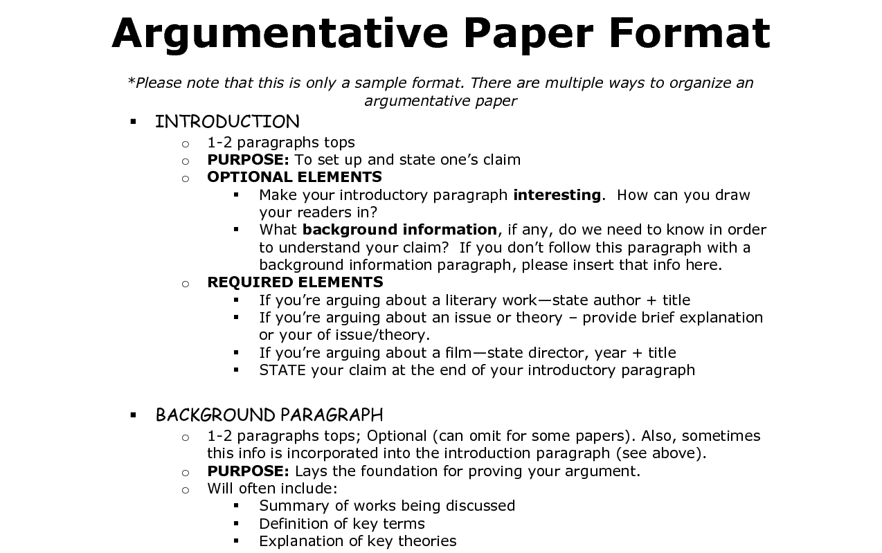 012 Structure For Argumentative Essay Body Paragraph Outline Regard Format Best Template Sample Pdf Full
