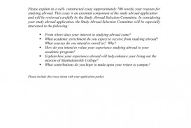 012 Study Abroad Application Essay Example 006642194 1 Phenomenal Scholarship Questions Winners Examples