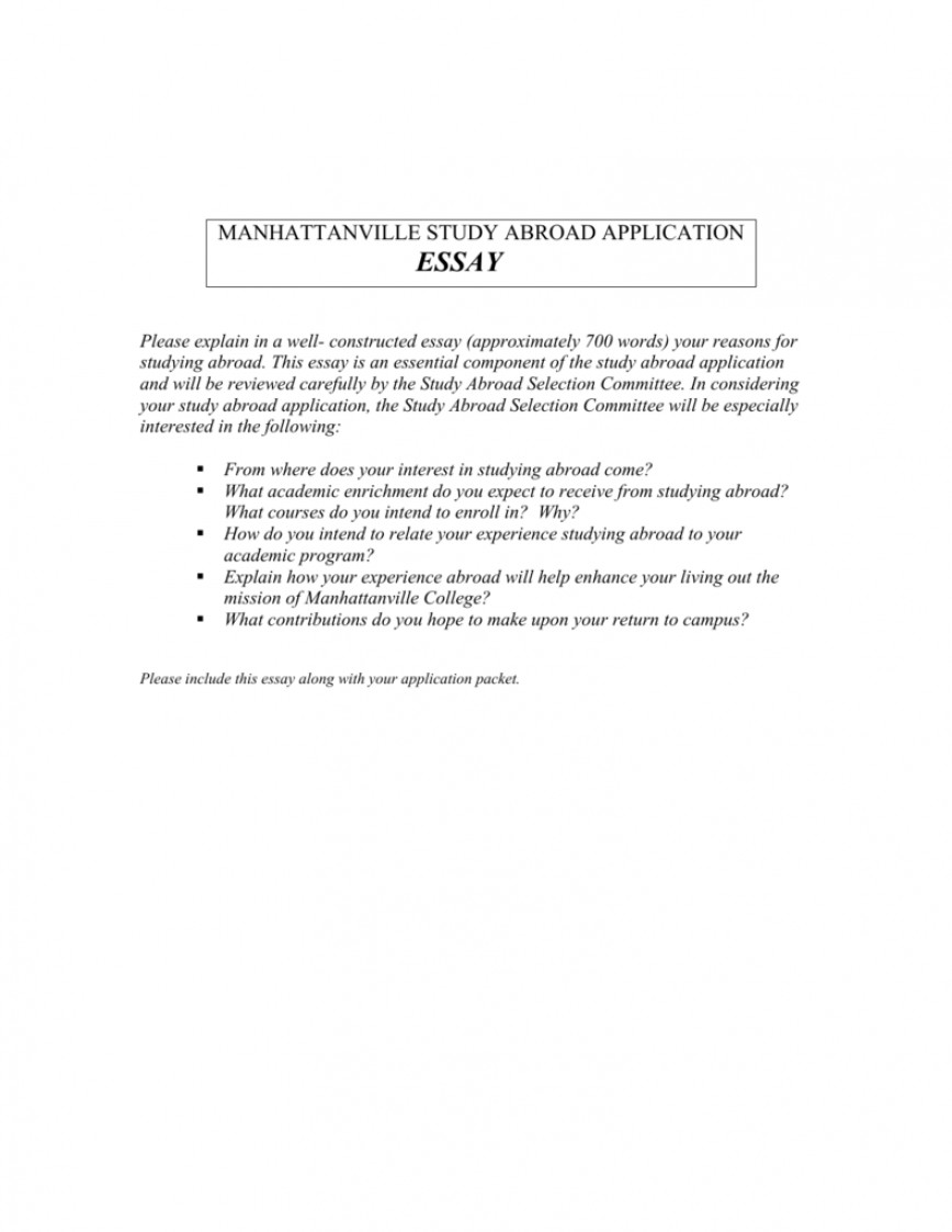 Essay for scholarship abroad