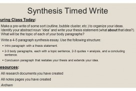 012 Synthesis Essay Outline Anthem Timed Write Day Research How To Sl Do I You For Ap English Lang Conclusion Prompt Thesis Good Introduction Stupendous Sample Example Of Argumentative