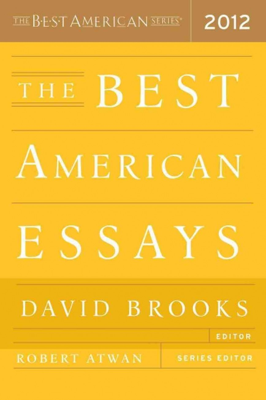 012 The Best American Essays 2012 Essay Wonderful 2018 Pdf 2017 Table Of Contents 2015 Free 868