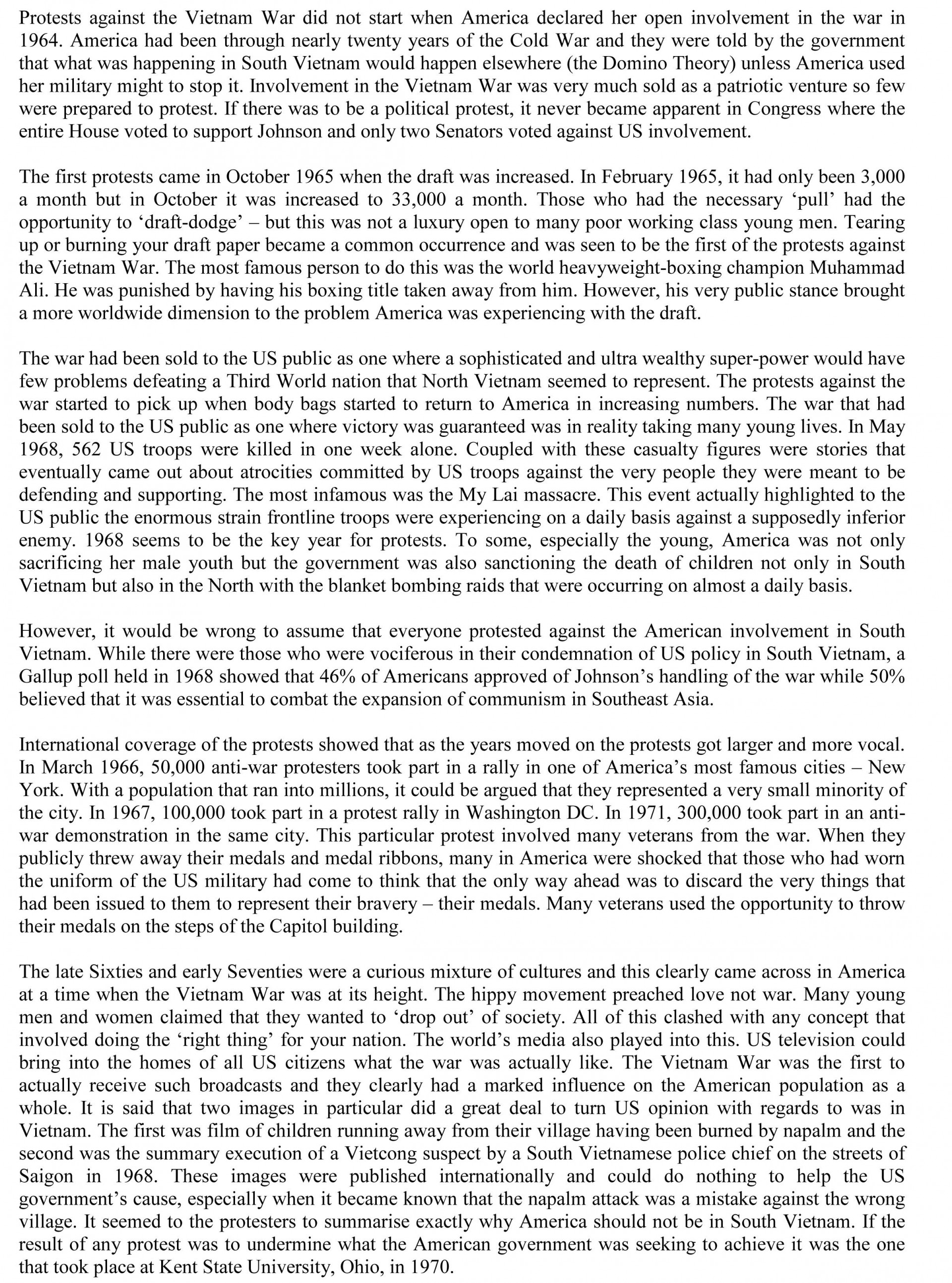 012 Vietnam War Essay Expository Cause And Effect Surprising Examples Topics 1920