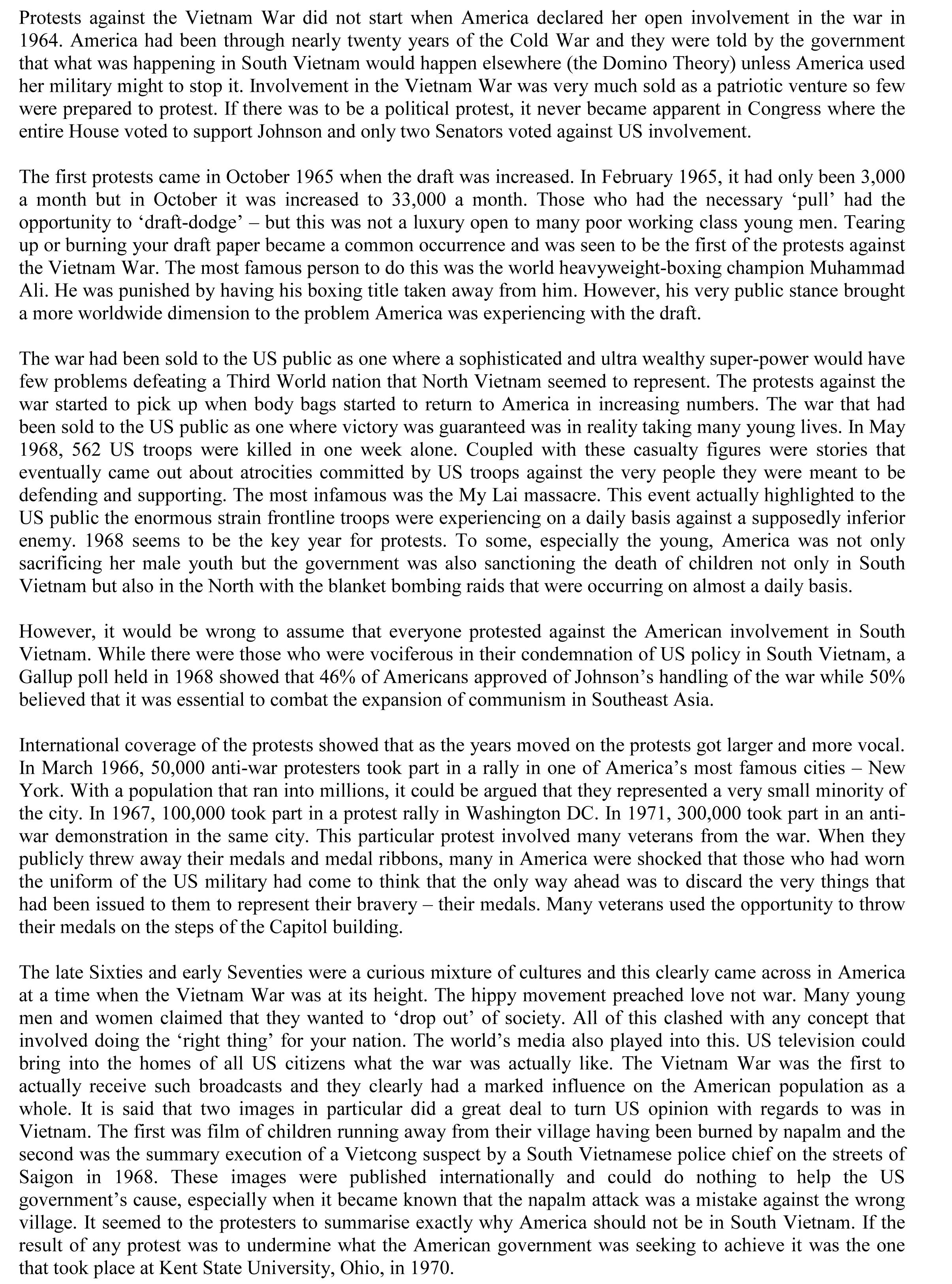 012 Vietnam War Essay Expository Cause And Effect Surprising Examples Topics Full