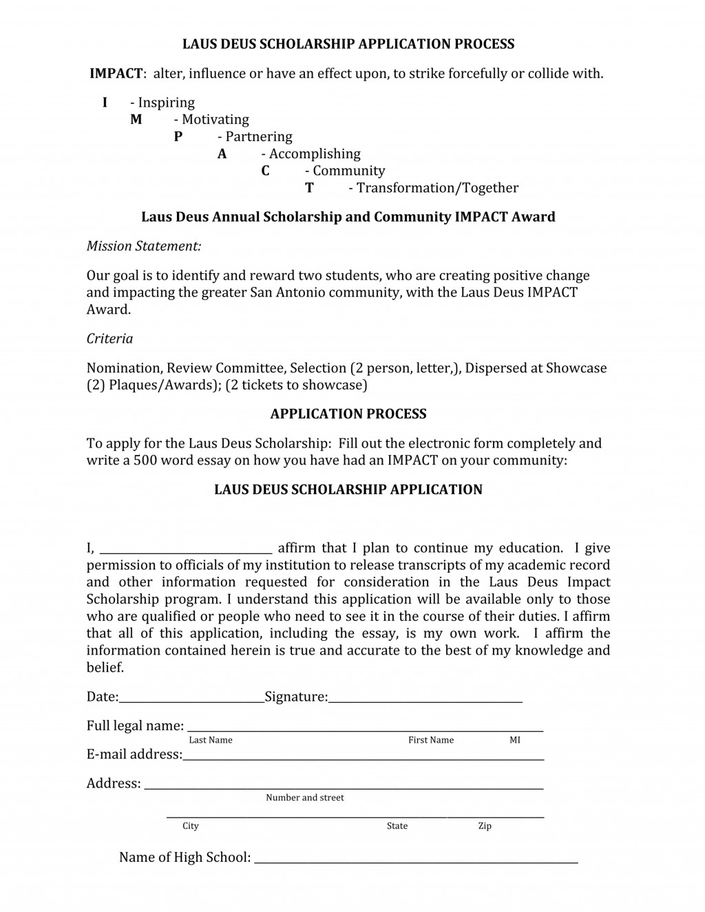 012 Word Essay Laus Deus Scholarship App Rare 200 About Myself Sample Large