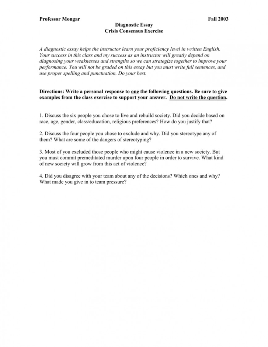 013 008051743 1 Diagnostic Essay Wondrous Outline Rubric Topics