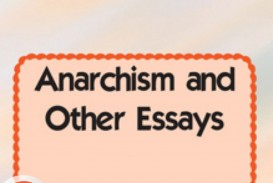 013 Anarchism And Other Essays Essay Example By Emma Incredible Goldman Summary Mla Citation