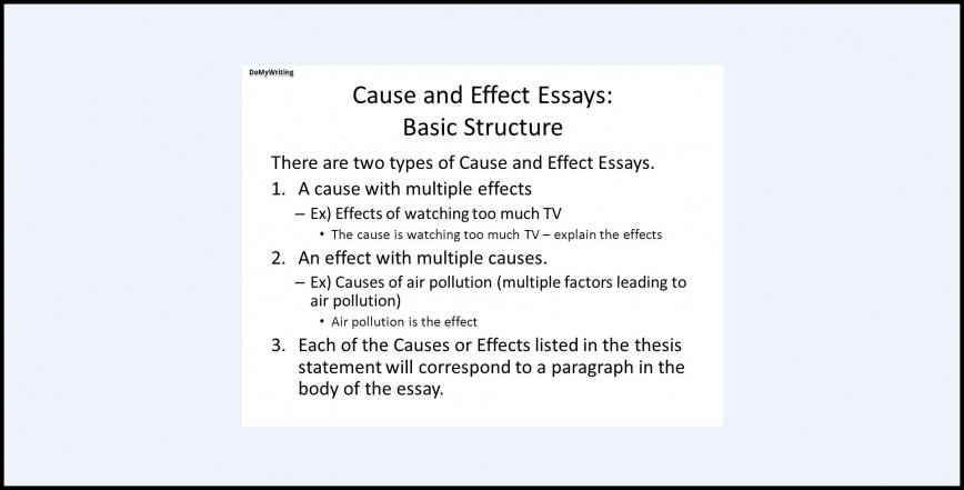 013 Cause And Effect Essay Topics Structure Dreaded Thesis Statement For On Bullying Examples 6th Grade Example Pollution 868