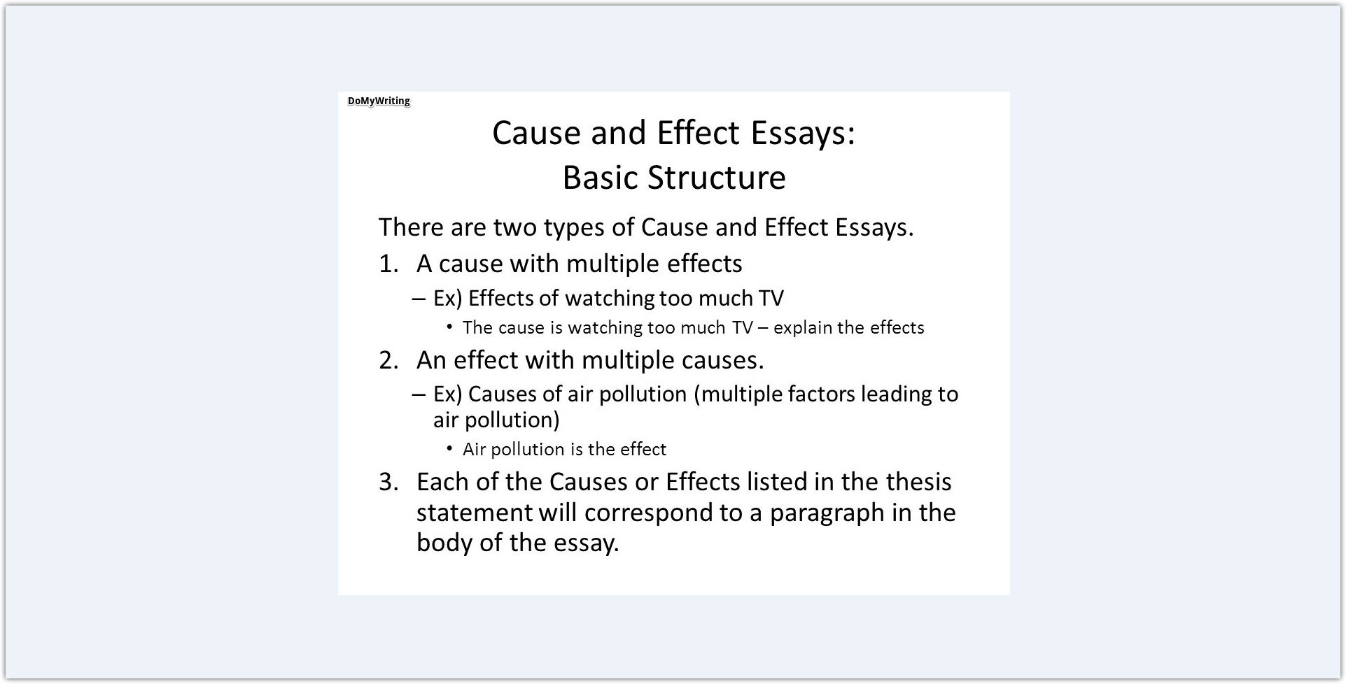 013 Cause And Effect Essay Topics Structure Dreaded Thesis Statement For On Bullying Examples 6th Grade Example Pollution Full