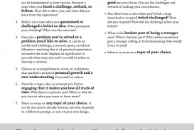 013 Coalition Application Essay Prompts Example Page 4 Frightening