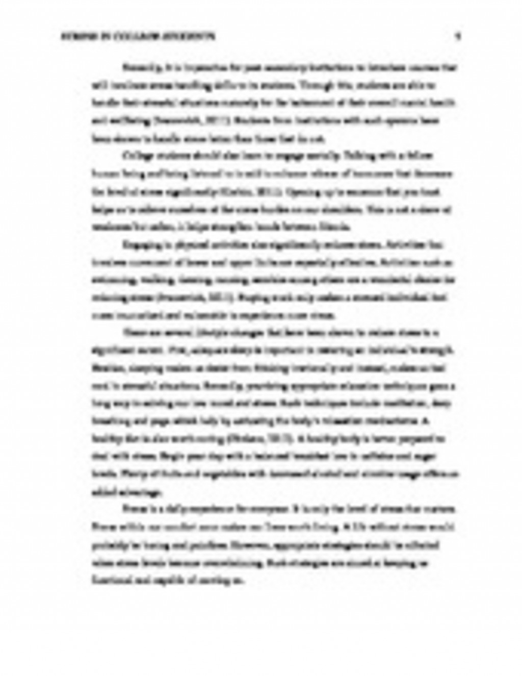 013 College Stress Essay Ways To Reduce Application Financial In Students Management Complete  Copy Academic Causes Of Among On Unforgettable And Health Exam HindiLarge