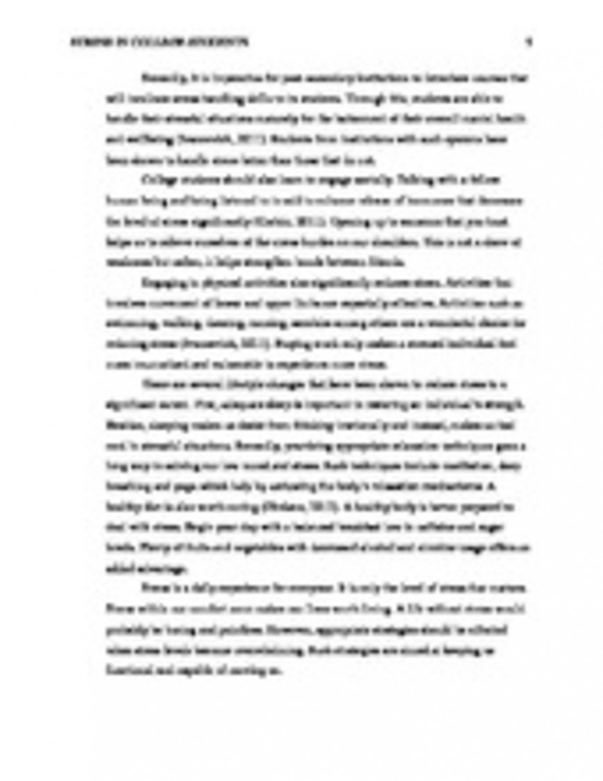 013 College Stress Essay Ways To Reduce Application Financial In Students Management Complete  Copy Academic Causes Of Among On Unforgettable And Its Effects Youth Today Is The Key Success