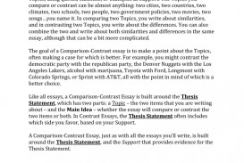 013 Compare Contrast Essays 007207405 1 Essay Best Topics Technology Comparison Outline And Format