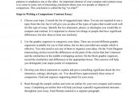 013 Comparison Contrast Essay Example Beautiful Compare Format College Graphic Organizer Pdf Examples