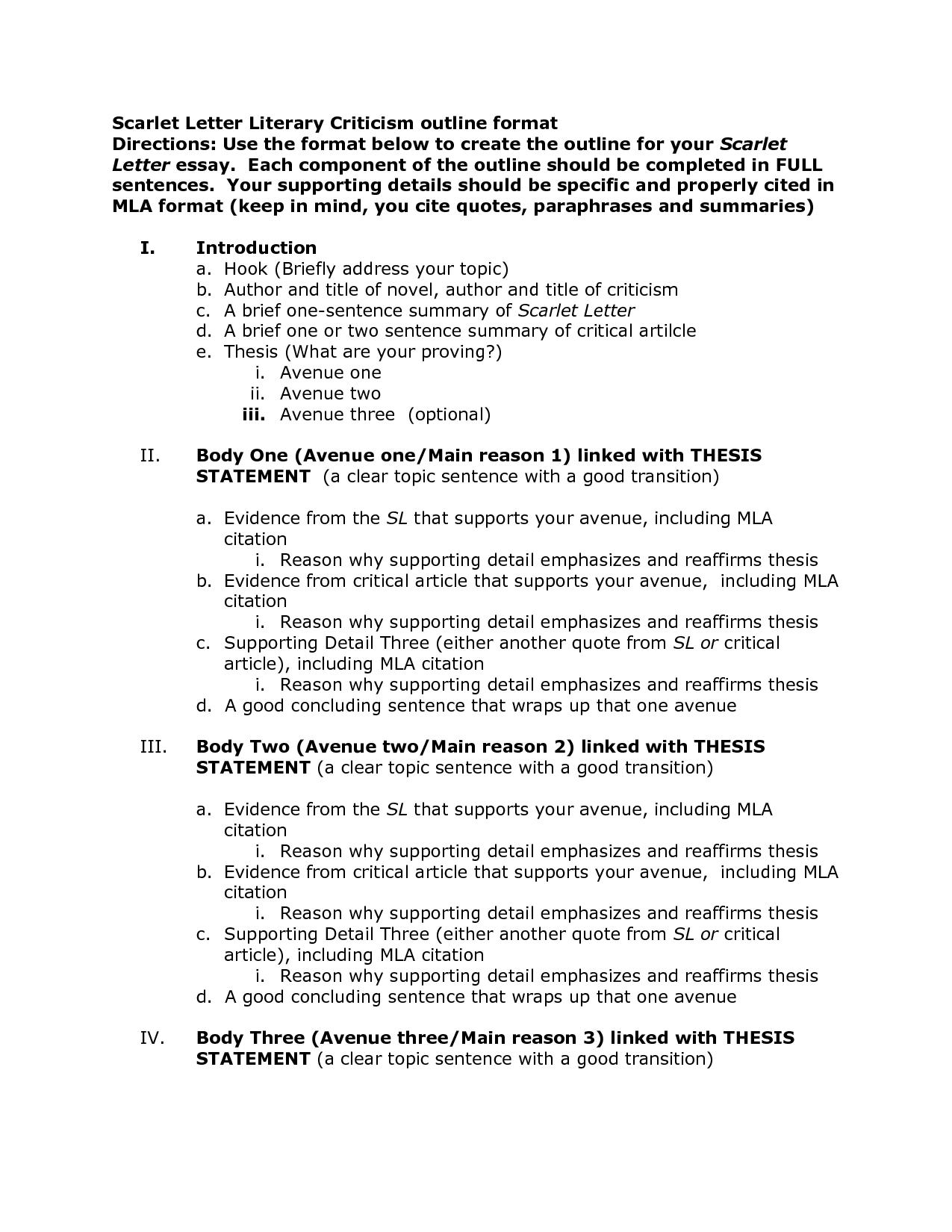 013 Comparison Essay Outline Format Template 474624 Unusual Example Sample Pdf Full