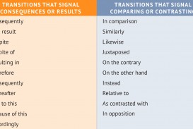013 Comparison Essay Transition Words Chapt6 Transitions Chart Stirring