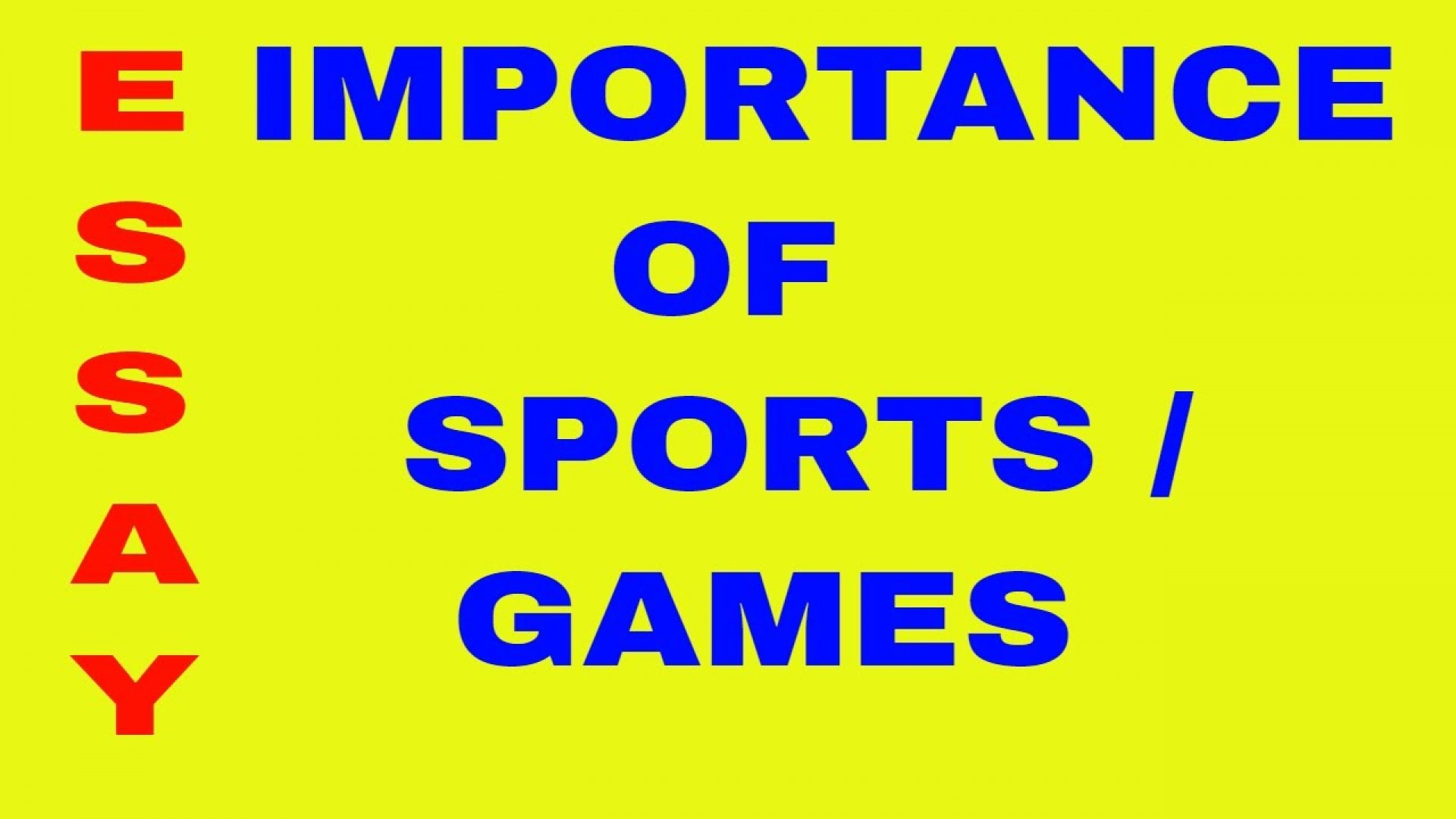 013 Essay About Sports Maxresdefault Awesome And Games Narrative Sportsfest Argumentative Sportsmanship 1920
