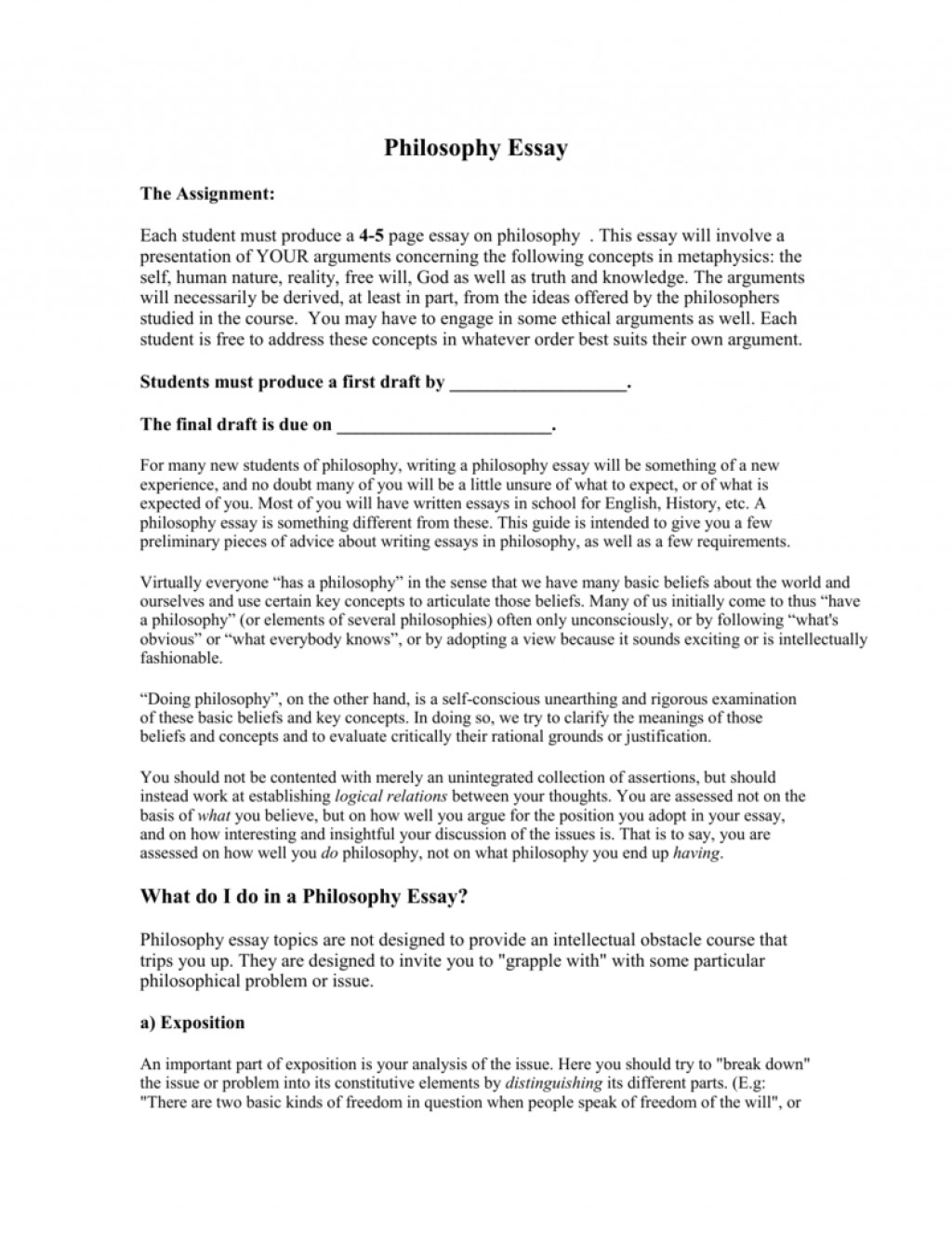013 Essay Example 007511318 1 Philosophy Frightening Topics Ideas Of Life 101 Questions Large