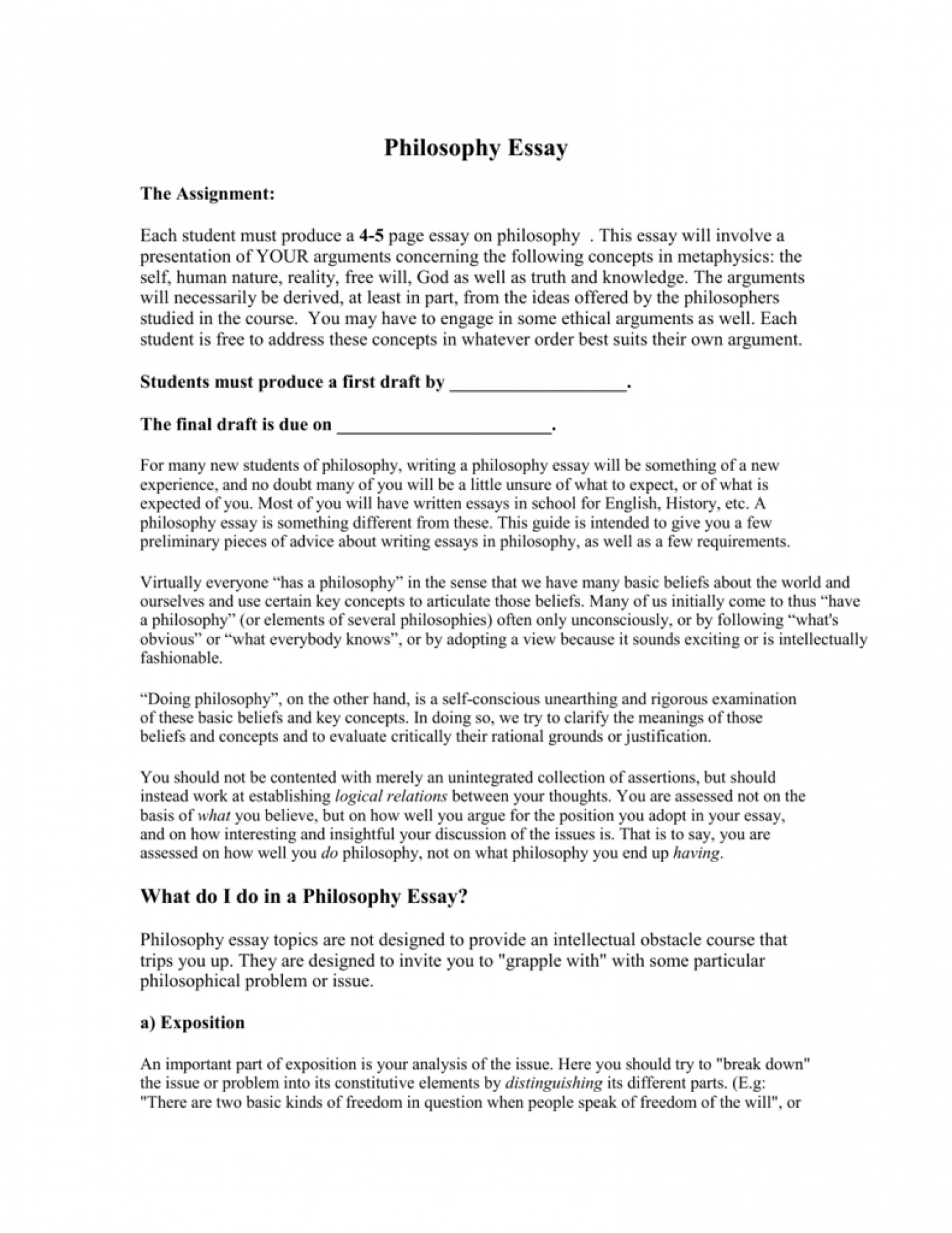 Essay topic about education