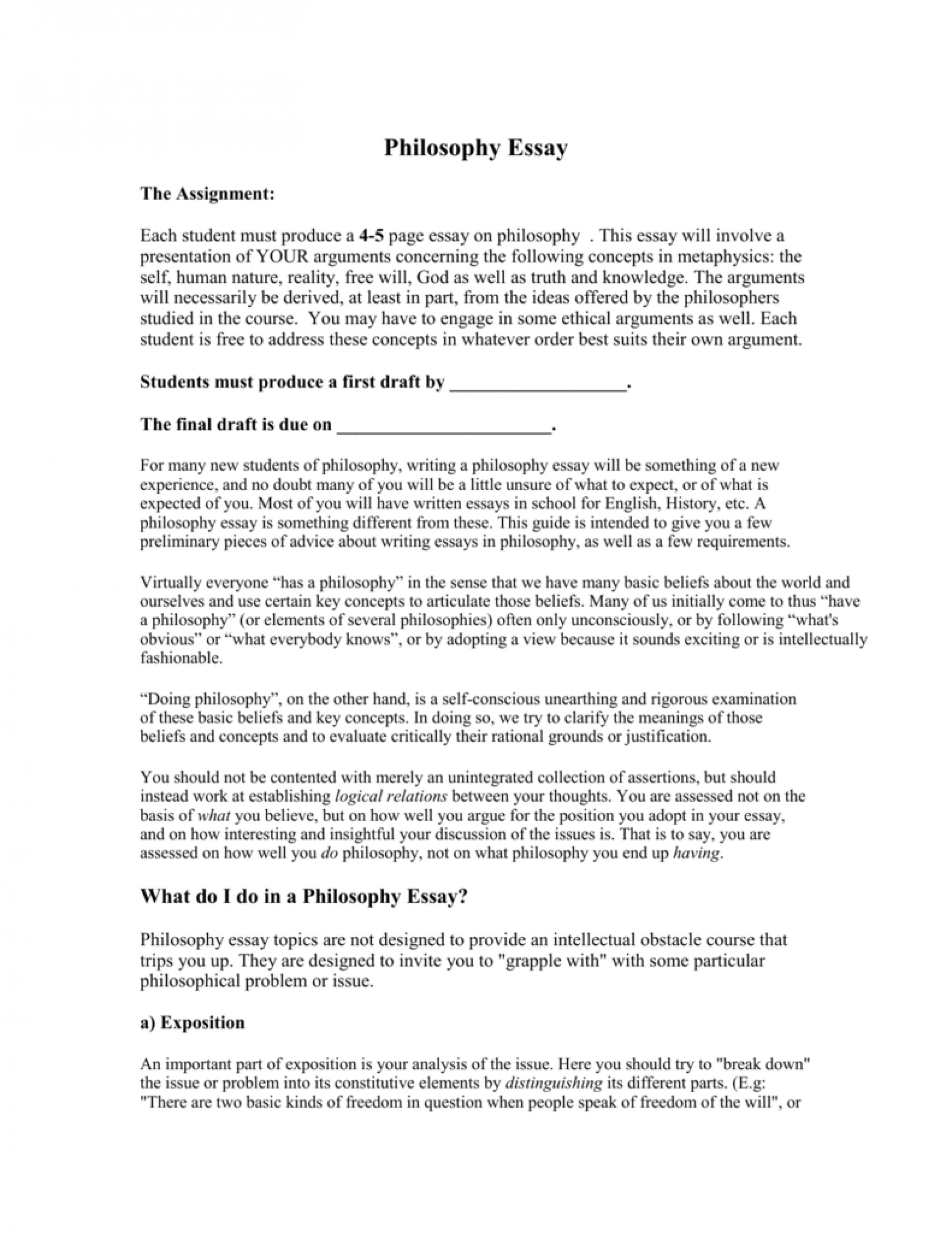 013 Essay Example 007511318 1 Philosophy Frightening Topics Ideas Of Life 101 Questions 1920