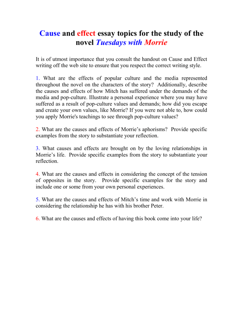013 Essay Example 008010712 1 Tuesdays With Striking Morrie Topics Writing Prompts Paper Full