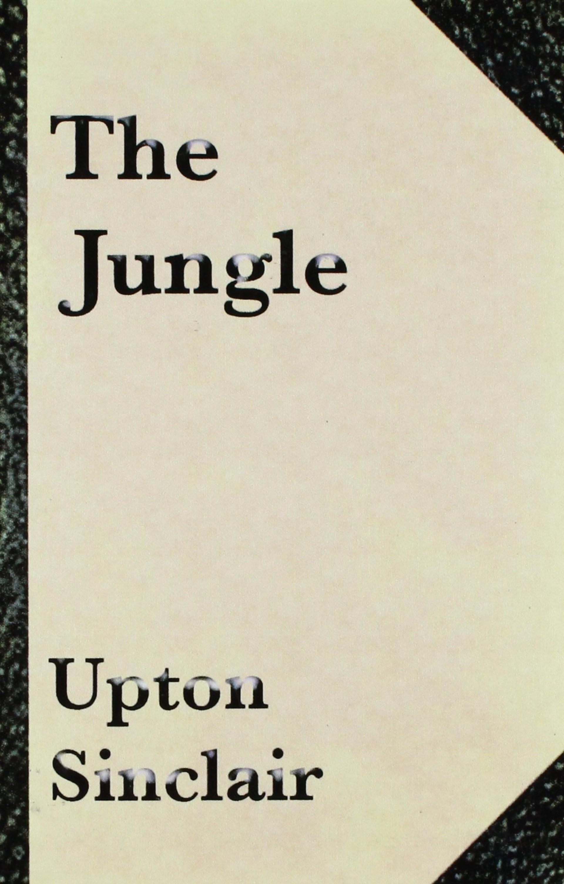 013 Essay Example 813xlafn0gl The Jungle Upton Sinclair Book Rare Review 1920