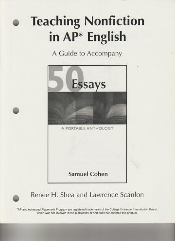 013 Essay Example 81qzov2hjtl Essays Portable Anthology 4th Edition Awful 50 A Pdf Free 360