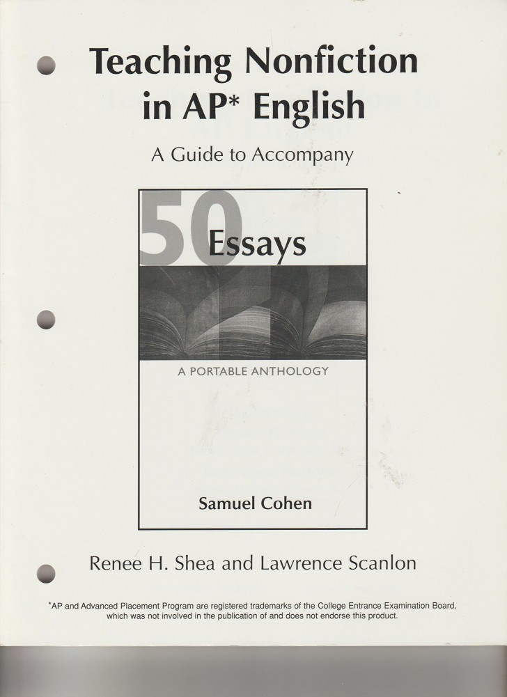 013 Essay Example 81qzov2hjtl Essays Portable Anthology 4th Edition Awful 50 A Pdf Free 728