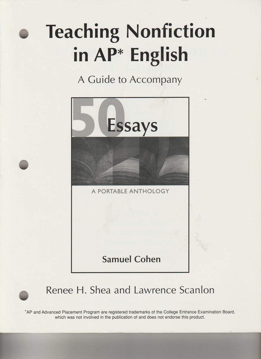 013 Essay Example 81qzov2hjtl Essays Portable Anthology 4th Edition Awful 50 A Pdf Free