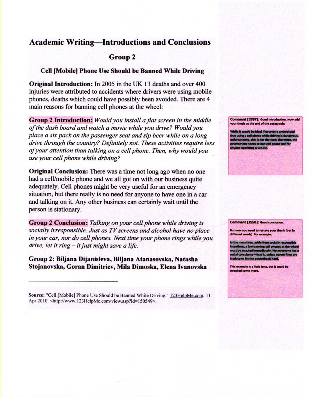 013 Essay Example Academicwriting Blogintrosconclusions Group2 Conclusion To Outstanding Persuasive Good A The Strongest Large