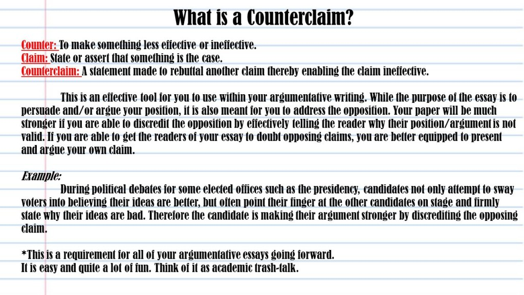 013 Essay Example An Effective Claim For Argumentative Is Whatisacounterclaimcounter3atomakesomethinglesseffectiveorineffective Wondrous Which Statement Of Brainly Quizlet Large