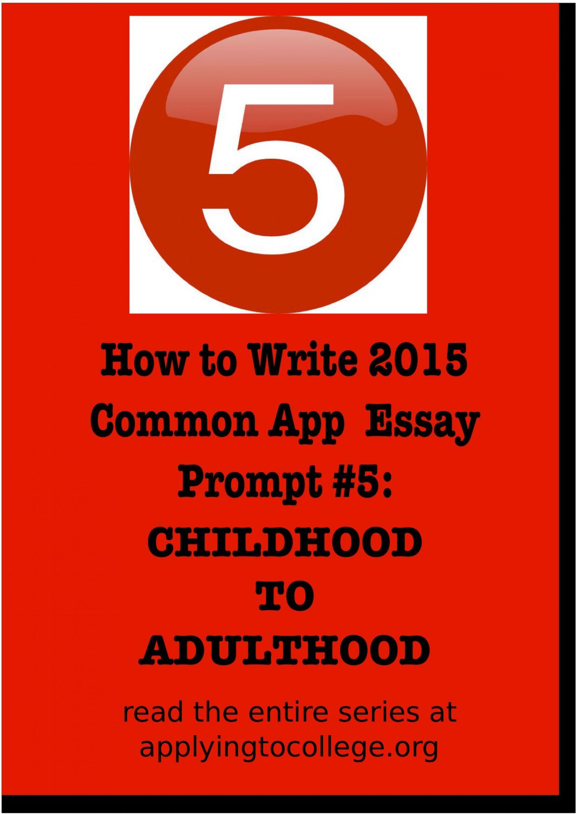 013 Essay Example Common App Unusual Prompt Examples 6 1 Sample 1920