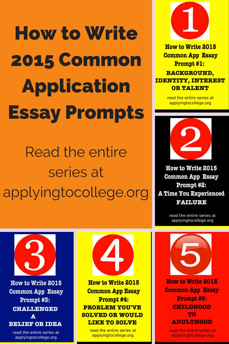 013 Essay Example Common App Unusual Prompt Examples 4 Prompts Word Limit Full