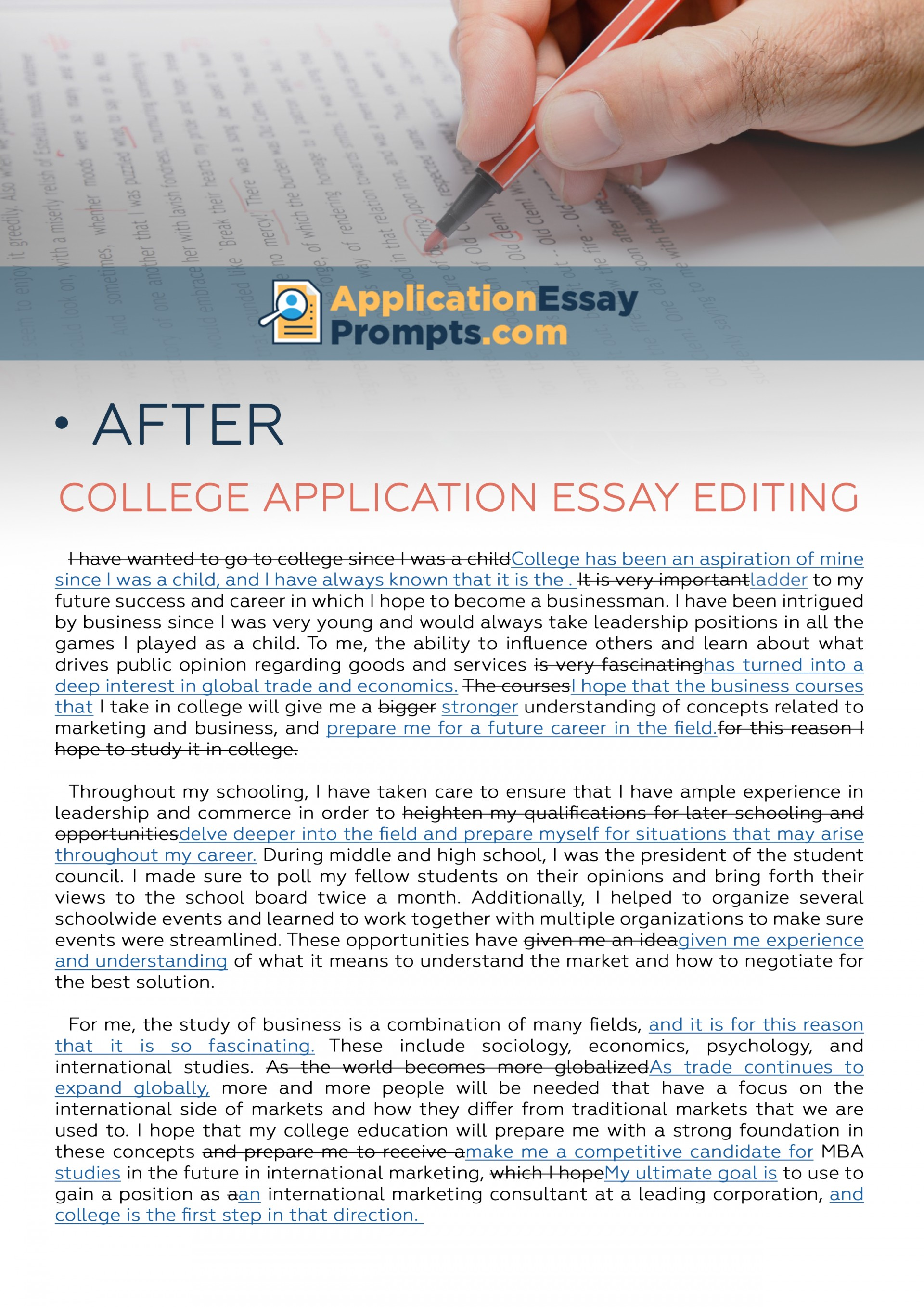 013 Essay Example Editing After College Unusual Service Application Services Free 1920