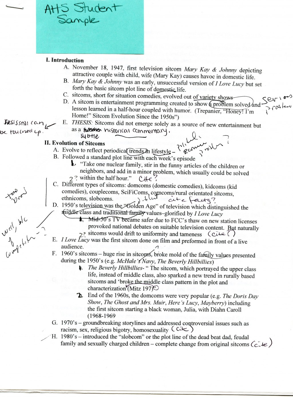 Topics for exploratory essays