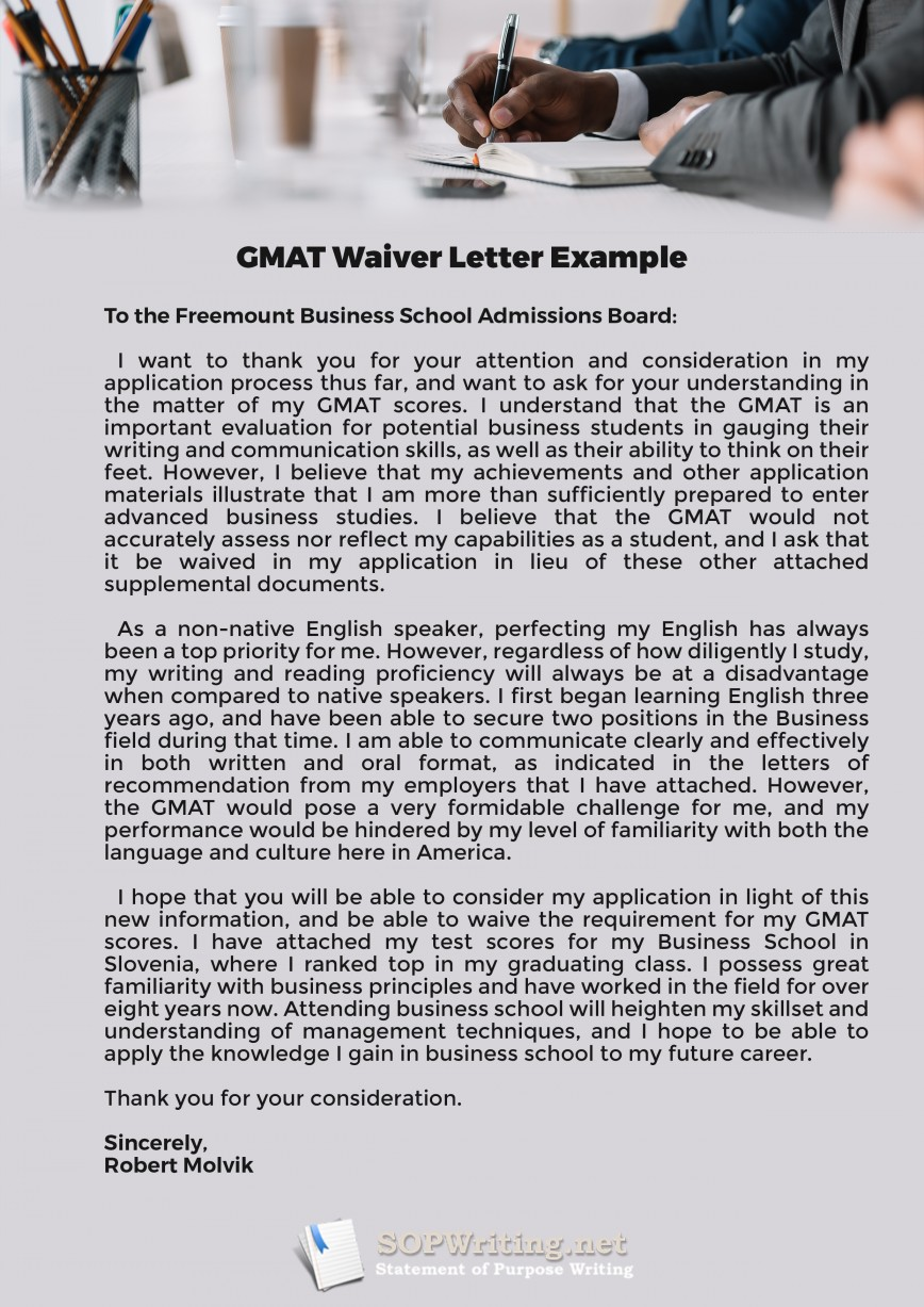 013 Essay Example Gmat Examples Waiver Top Argument Sample 6 Awa 868
