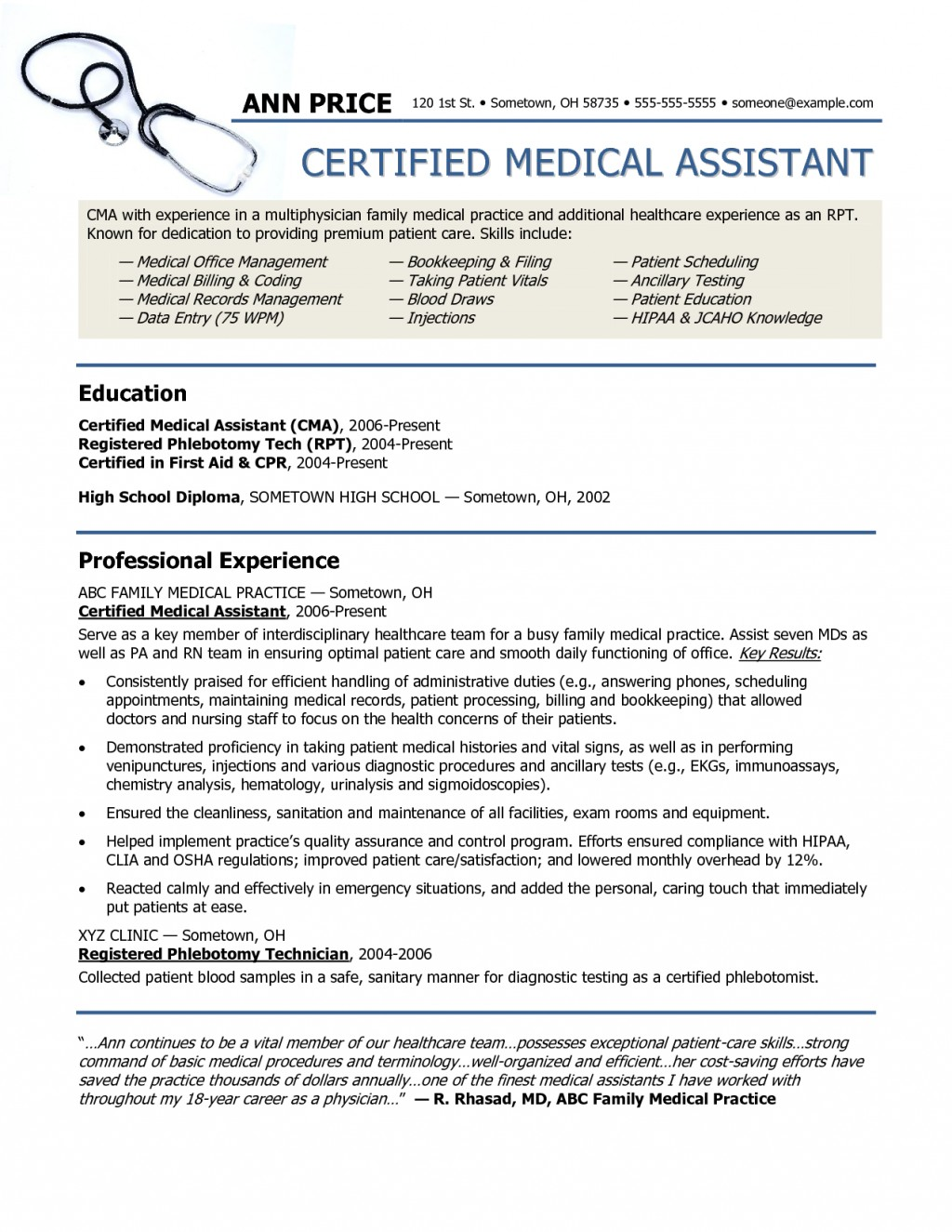 013 Essay Example Hipaa Sample Resume For Medical Archaicawful Large