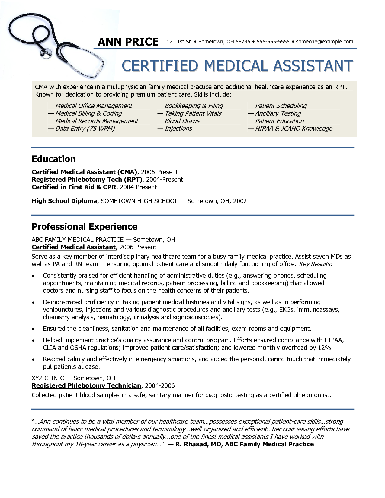 essay on medical assistant duties