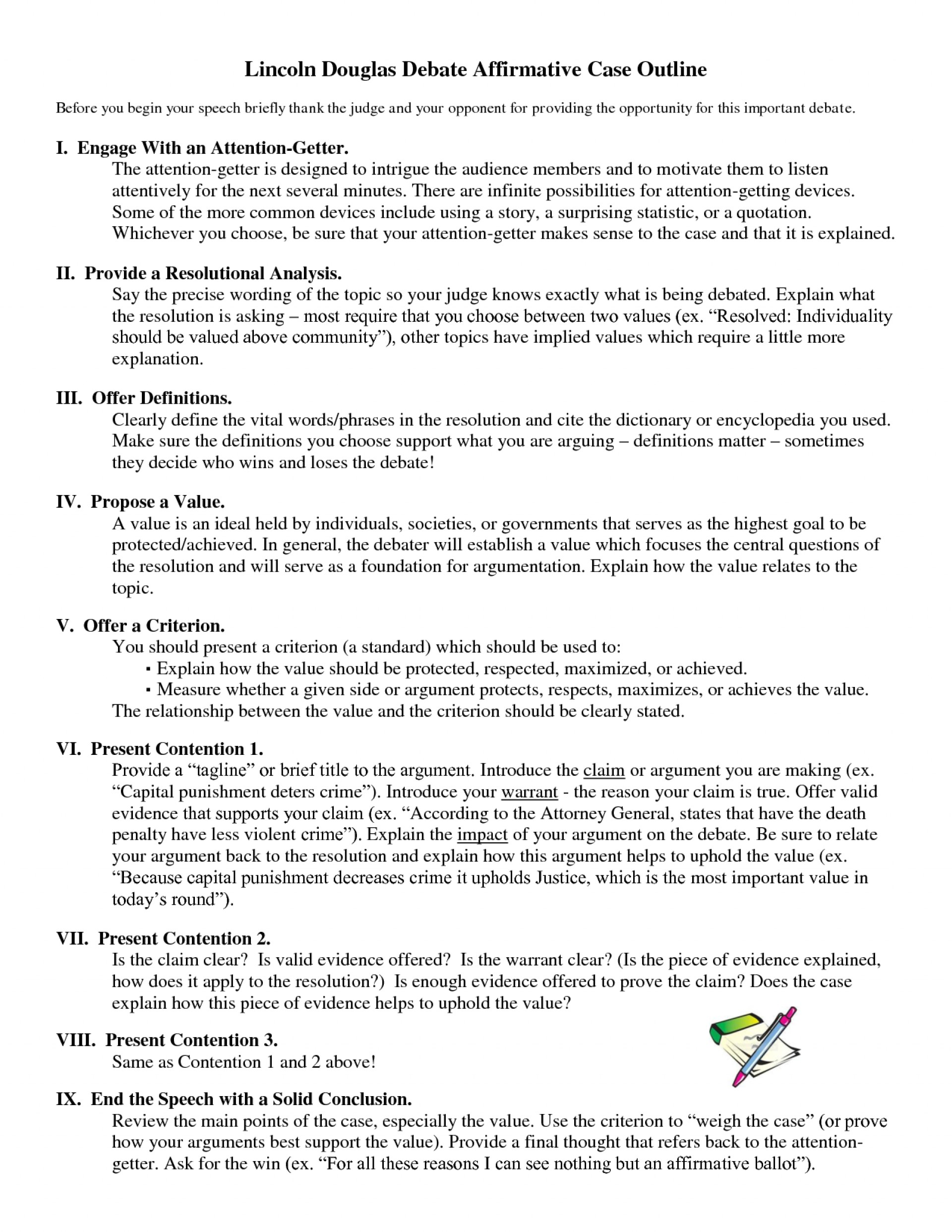 013 Essay Example Lincoln Douglas Affirmative Outline Argumentative On Death Unbelievable Penalty Ideas Persuasive About In The Philippines Pro 1920