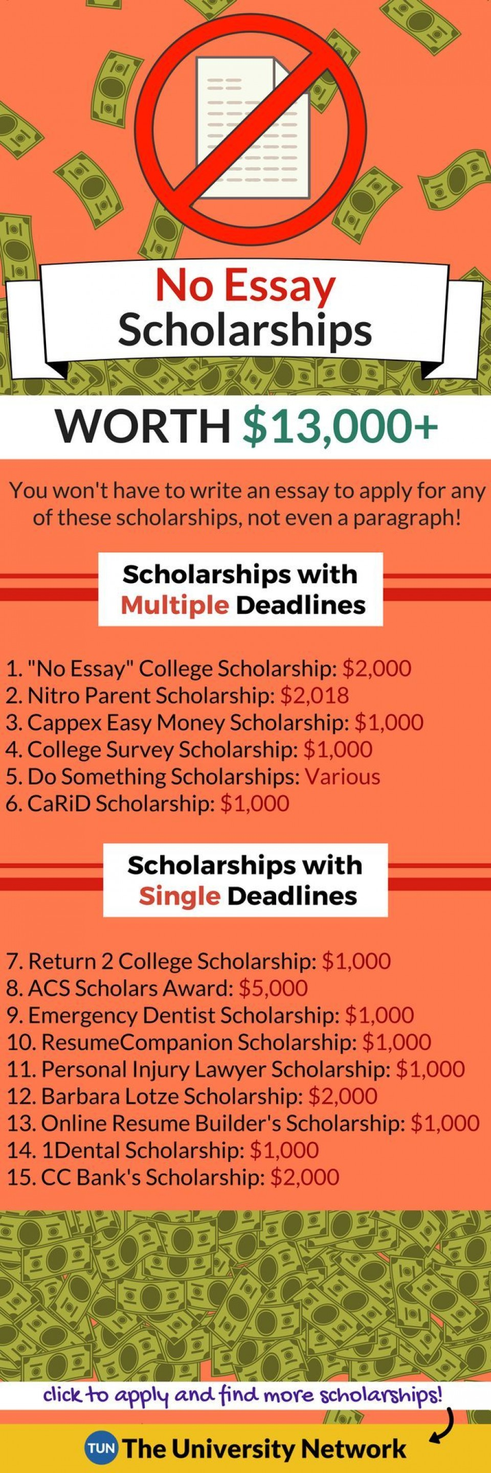 013 Essay Example No Exceptional Scholarships For Undergraduates College Students 2019 960