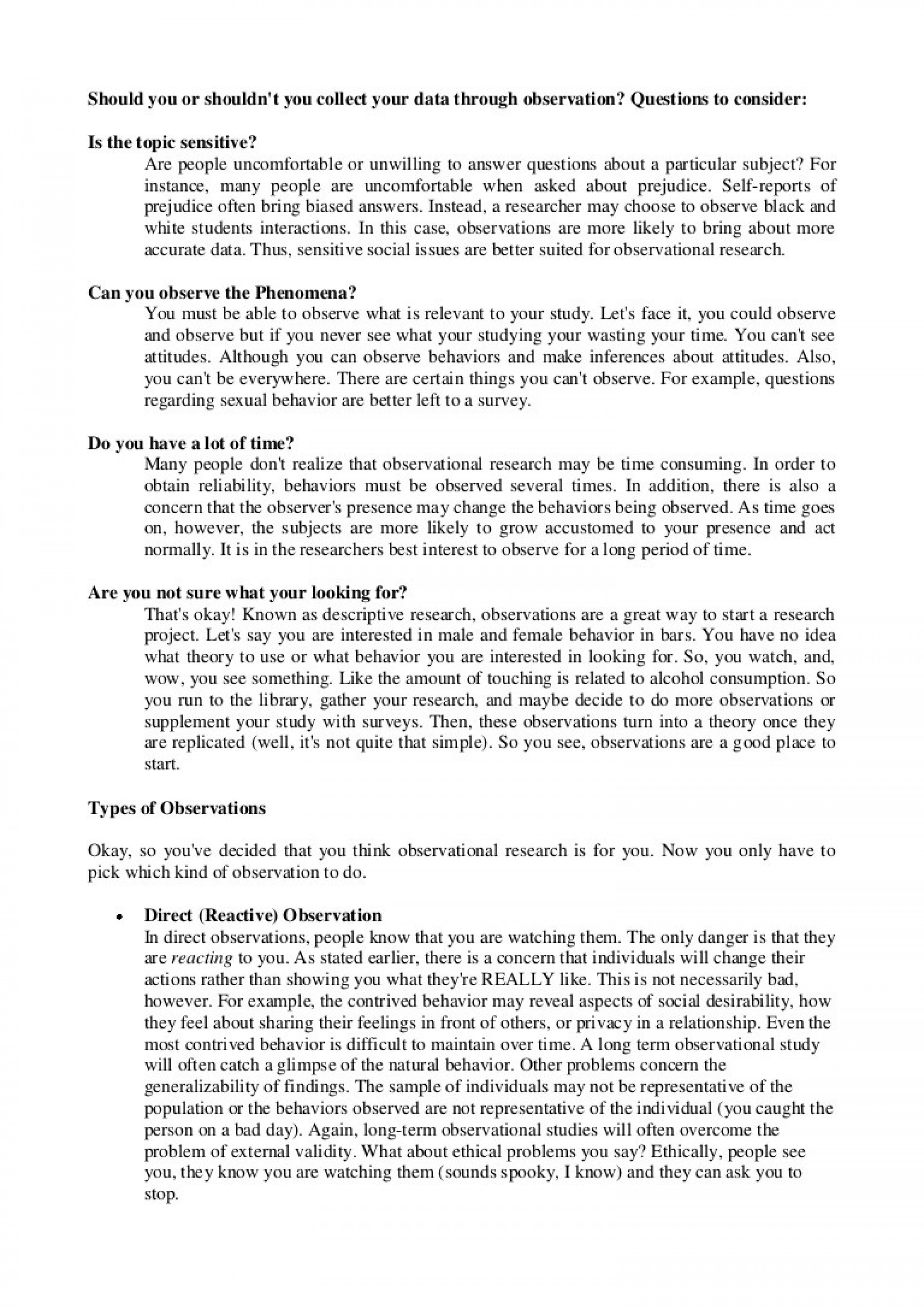 013 Essay Example Of Enumeration Observationinterview Phpapp02 Thumbnail Dreaded 1920