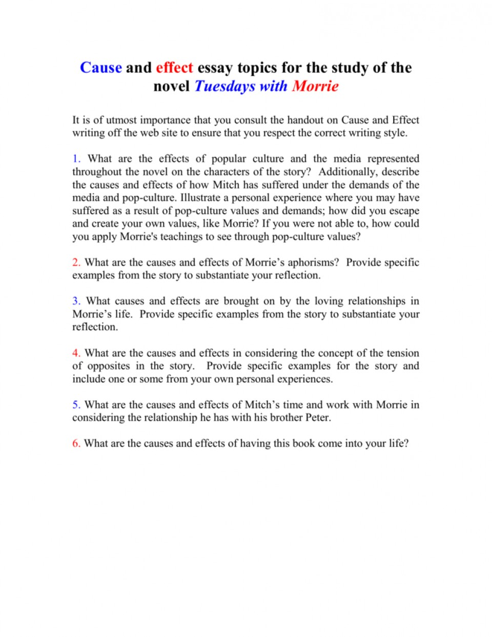 013 Essay Example On Tuesdays With Morrie 008010712 1 Unusual Analytical Reflection Paper Argumentative 960