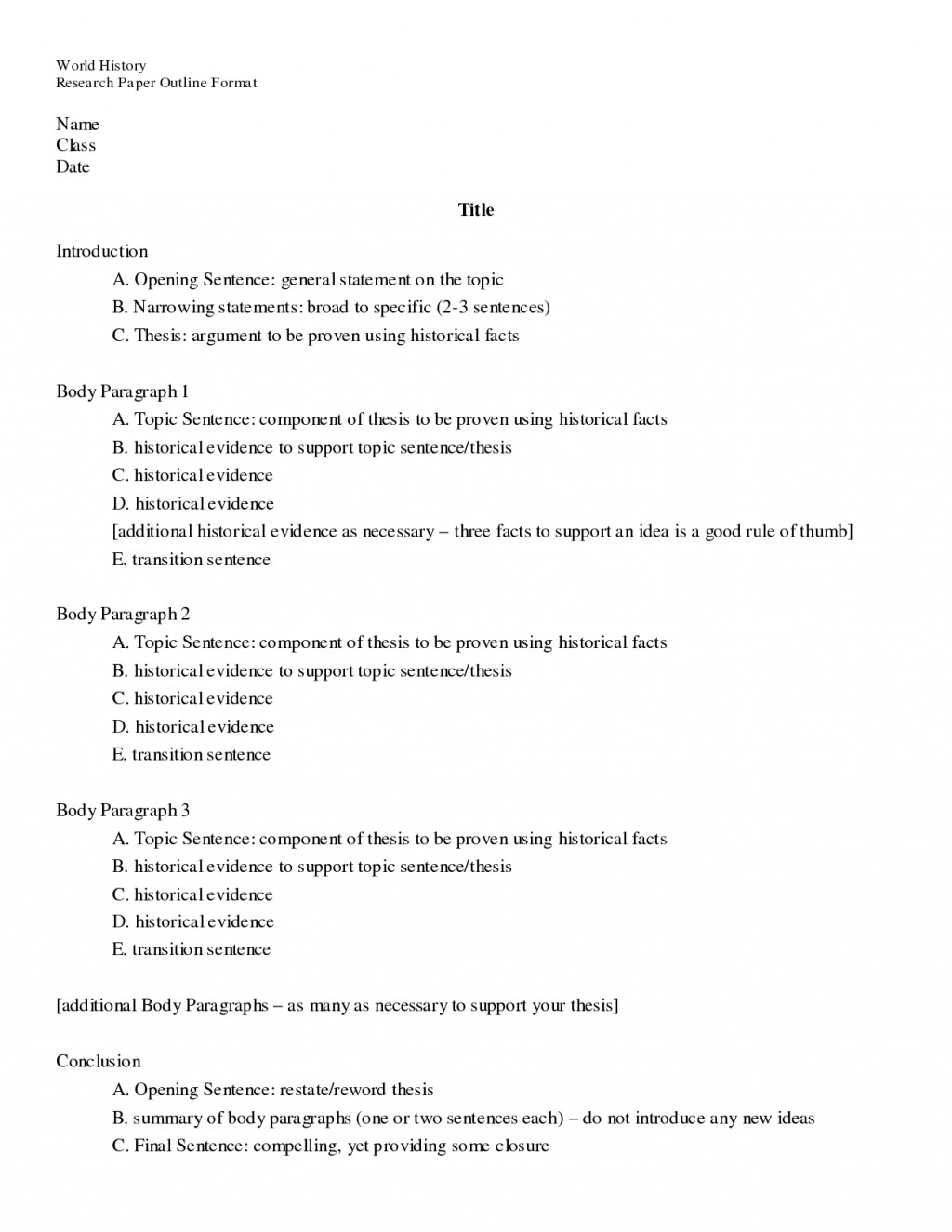 013 Essay Example Outlining Best An Exercise Outline Of Argumentative Classical Pattern Large