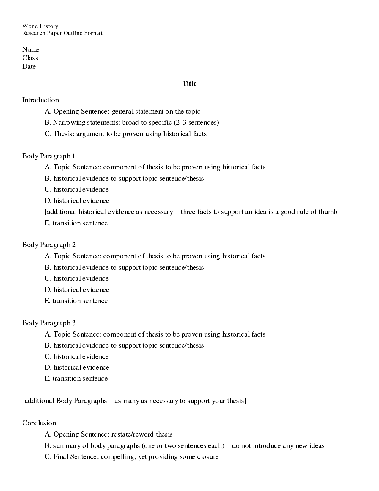 013 Essay Example Outlining Best An Exercise Outline Of Argumentative Classical Pattern Full