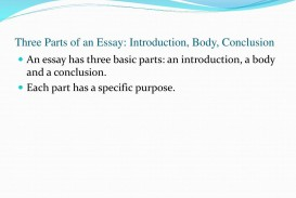 013 Essay Example Parts Of An Three Introduction Body Conclusion Stupendous The Academic 320