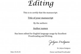 013 Essay Example Proofread Certificate Of Unique Proofreading Service Website University