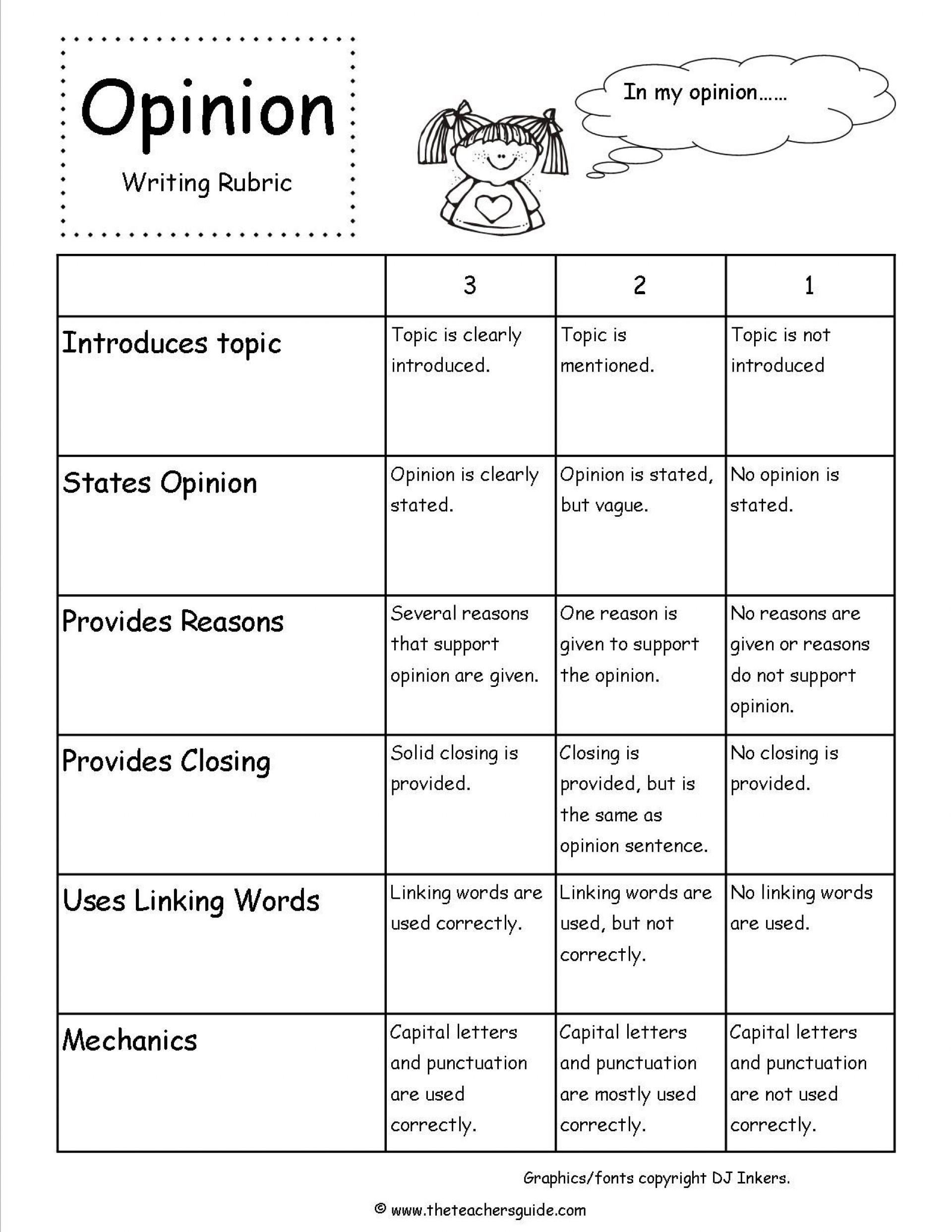 013 Essay Example Rubrics In Formidable Writing Holistic For Pdf Rubric Middle School 1920