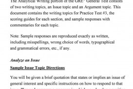 013 Essay Example Sample Gre Essays Analytical Writing Samples Unique Topics Practice Argument Prompts