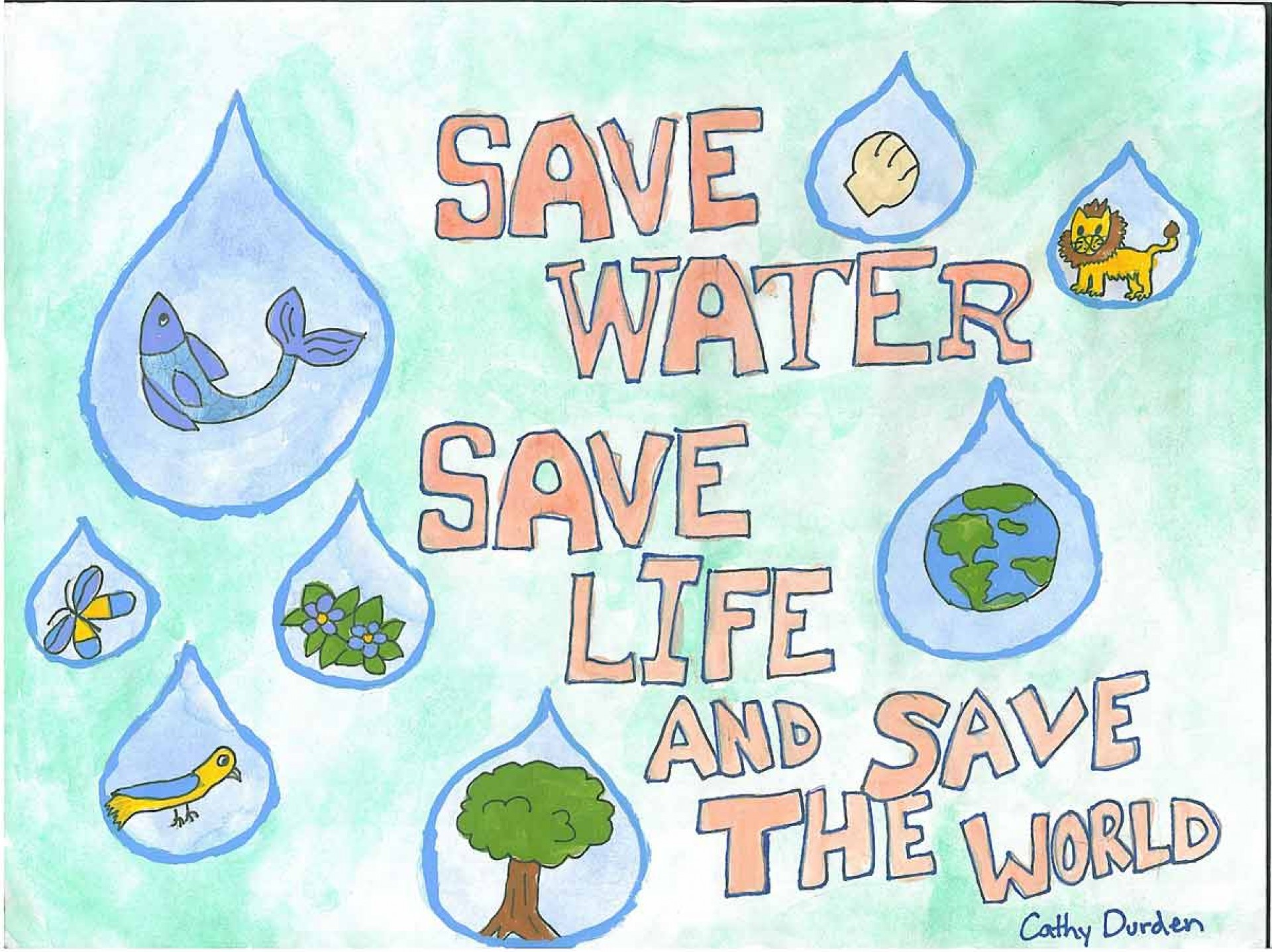 013 Essay Example Save Water Life Words Poster Lrg Stunning 300 1920