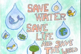 013 Essay Example Save Water Life Words Poster Lrg Stunning 300
