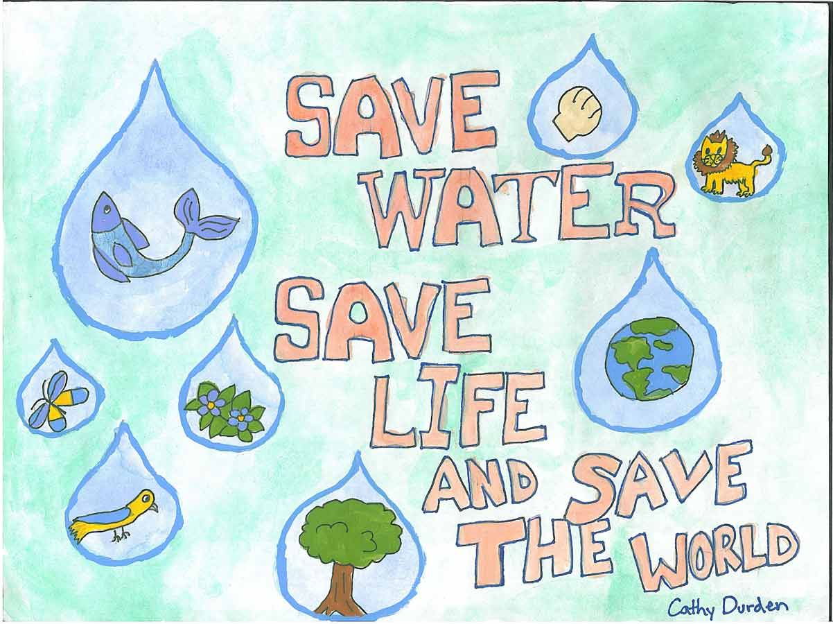 013 Essay Example Save Water Life Words Poster Lrg Stunning 300 Full
